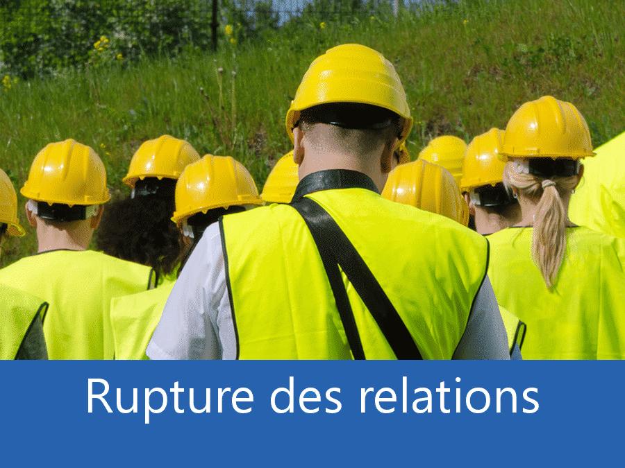 rupture des relation chantier 84, problème durant le chantier Avignon, stress chantier 84, problème durant le chantier Vaucluse,
